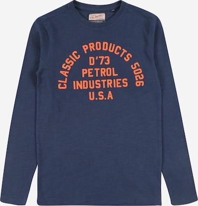Petrol Industries Pull-over en bleu foncé / orange, Vue avec produit