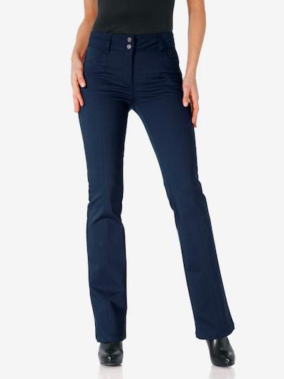 heine Bodyform-Bootcut-Hose in blau, Modelansicht