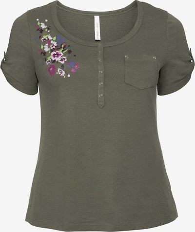 SHEEGO sheego Casual T-Shirt in khaki, Produktansicht