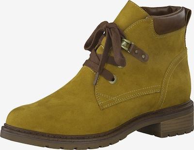 MARCO TOZZI Čevlji na vezalke | rjava / oliva barva, Prikaz izdelka