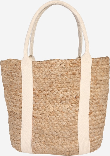 PIECES Shopper in de kleur Beige / Wit, Productweergave