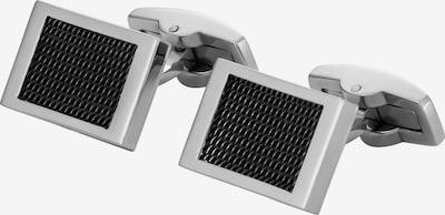 FAVS Manschettenknöpfe in schwarz / silber, Produktansicht