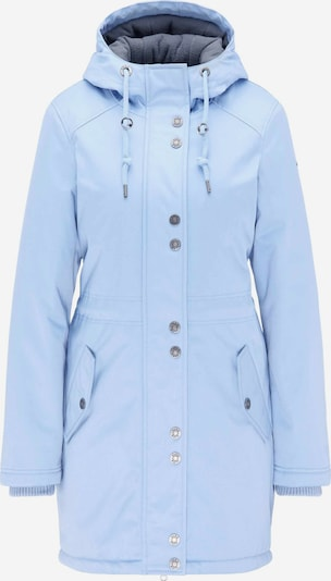 Usha Parka d'hiver en bleu fumé, Vue avec produit