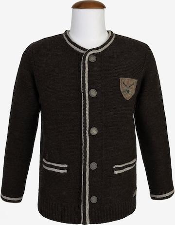 SPIETH & WENSKY Knit Cardigan 'Nil' in Brown