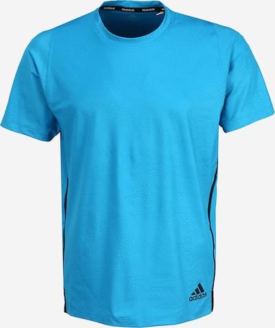 ADIDAS PERFORMANCE Funkcionalna majica | svetlo modra / črna barva, Prikaz izdelka