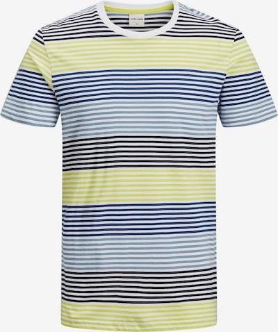 JACK & JONES Koszulka w kolorze niebieski / jasnożółty / białym, Podgląd produktu