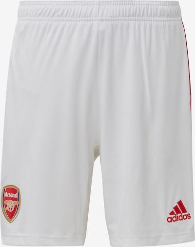 ADIDAS PERFORMANCE Sportbroek 'FC Arsenal' in de kleur Rood / Wit: Vooraanzicht