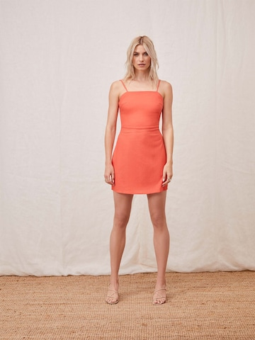 LeGer Orange Mini Dress Look