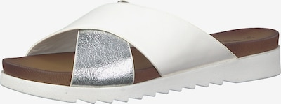 TAMARIS Slipper in silber / weiß, Produktansicht