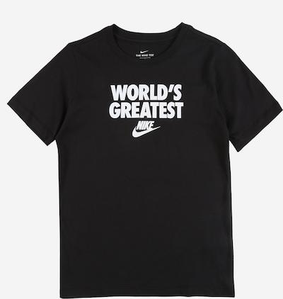 Nike Sportswear T-Shirt 'WORLD'S GREATEST' en noir / blanc, Vue avec produit