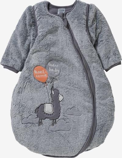 JACKY Schlafsack 'Lama' in grau / orange, Produktansicht