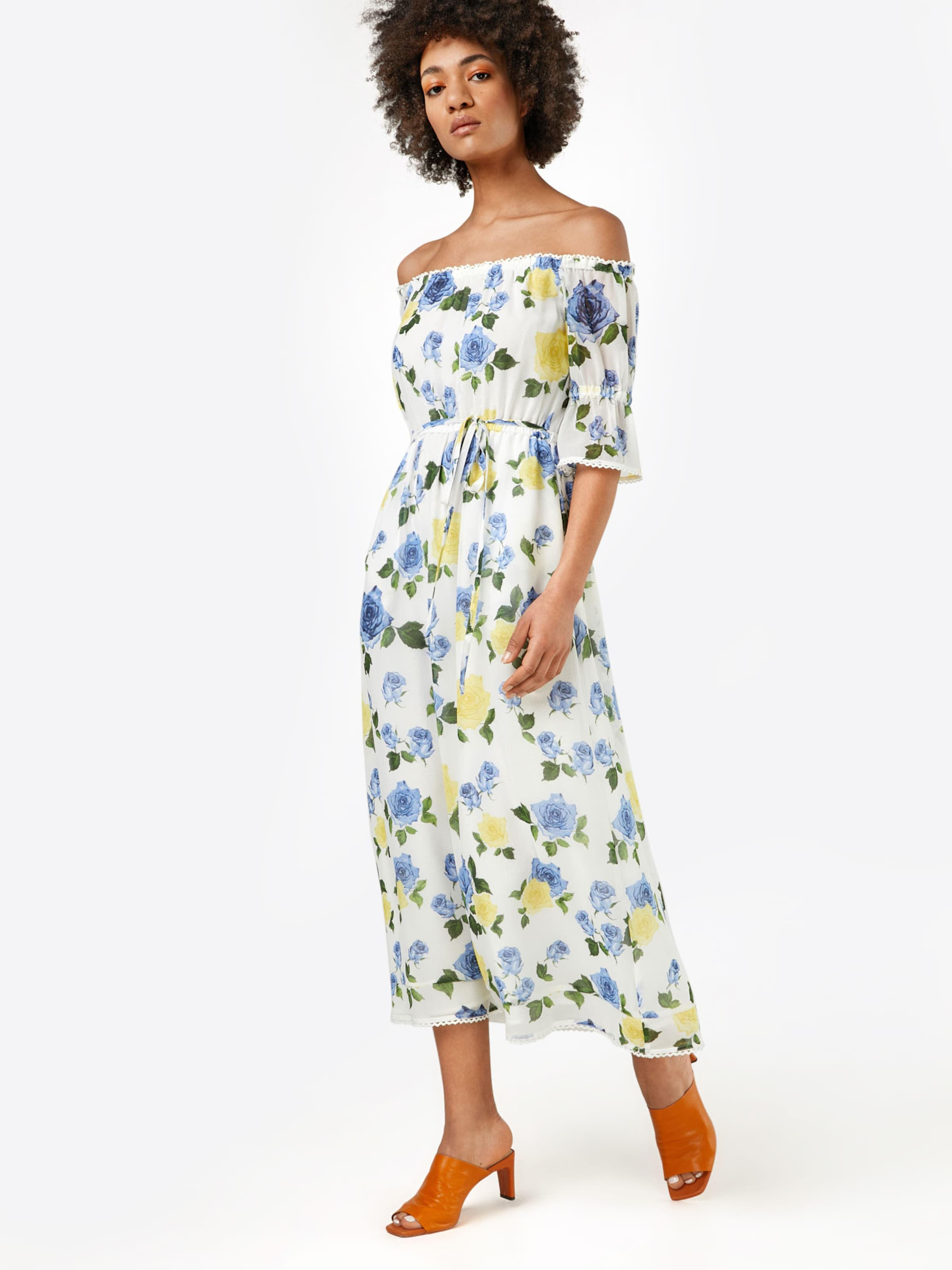 Pes Robe Dress' Blanc Roses The 'wild On Muslin Maxi Sport En D'été Kooples NOknPX80w