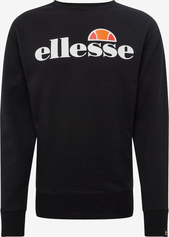 ELLESSE Sweatshirt mit Logo Print in Gelb online kaufen