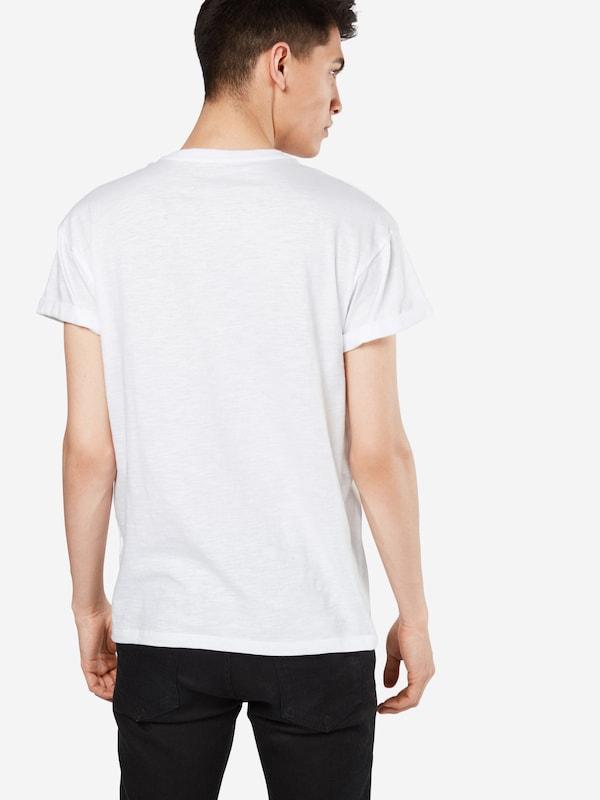 NEW LOOK T-Shirt 'SLUB HIGH ROLL'
