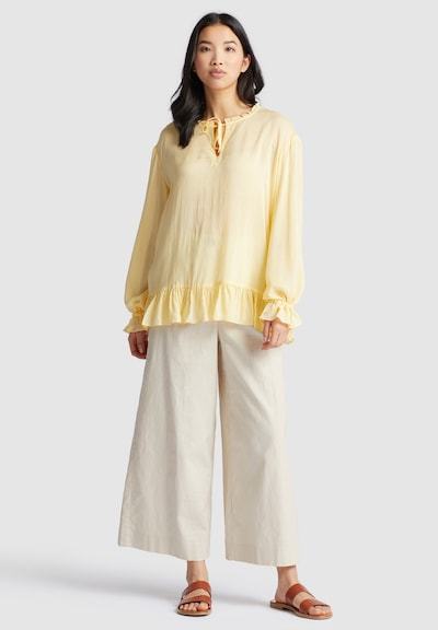 khujo Bluse ' MACIE ' in gelb, Modelansicht