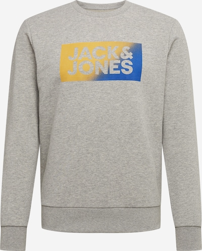 Megztinis be užsegimo iš JACK & JONES , spalva - mėlyna / geltona / pilka, Prekių apžvalga
