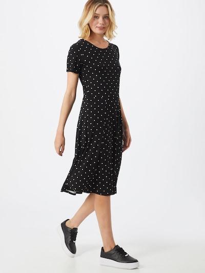 Kaffe Kleid 'KAhazel Jersey Dress' in schwarz / weiß, Modelansicht