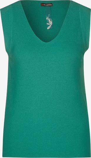 STREET ONE Feinstrick-Top in Unifarbe in grün, Produktansicht