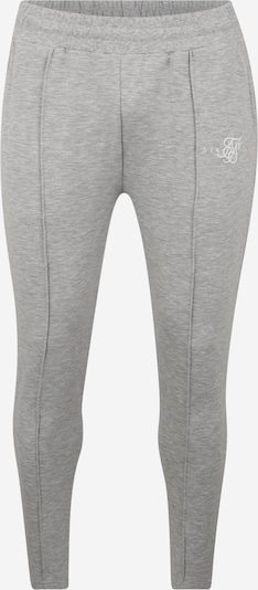 SikSilk Pantalon 'Smart Pleated' en gris chiné, Vue avec produit