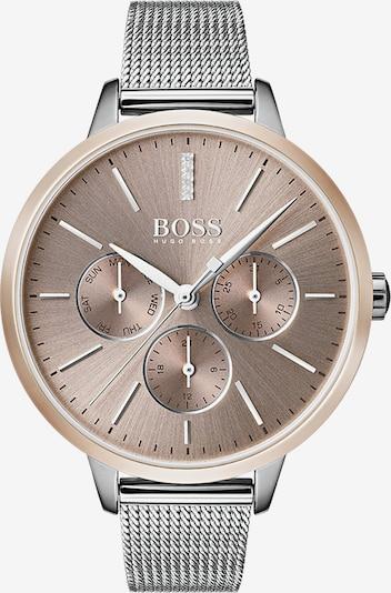 BOSS Uhr in rosegold / silber: Frontalansicht