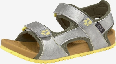 JACK WOLFSKIN Outdoorsandale  'Outfresh Deluxe Sandal K' in gelb / silber, Produktansicht