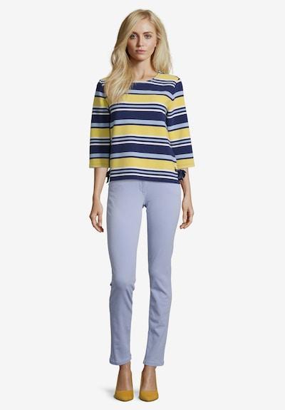 Betty Barclay Sweatshirt mit Ringel in blau / gelb: Frontalansicht