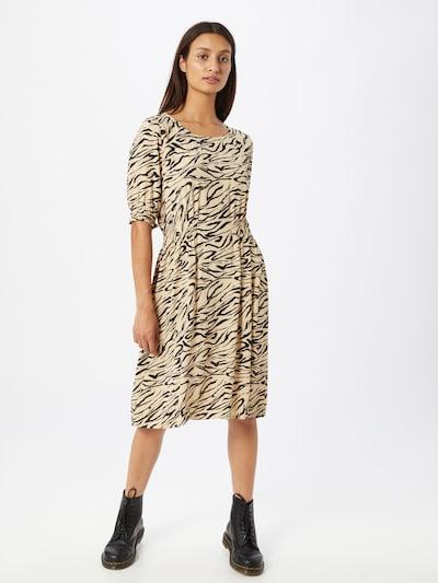 MOSS COPENHAGEN Kleid 'Belina Morocco' in beige / schwarz, Modelansicht