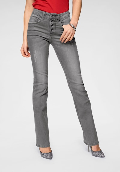 ARIZONA Jeans in grey denim, Modelansicht