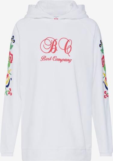 Best Company Sweater majica 'HOODIE FLEECE' u bijela, Pregled proizvoda