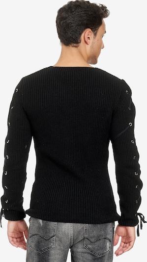 Redbridge Pullover in schwarz: Frontalansicht