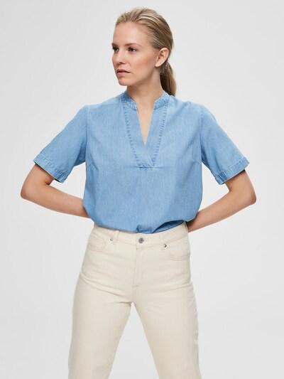SELECTED FEMME Oberteil in blue denim, Modelansicht