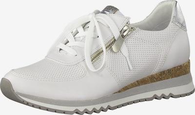 ezüst / fehér MARCO TOZZI Rövid szárú edzőcipők: Elölnézet