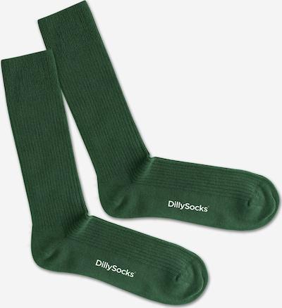Șosete DillySocks pe verde închis / alb, Vizualizare produs
