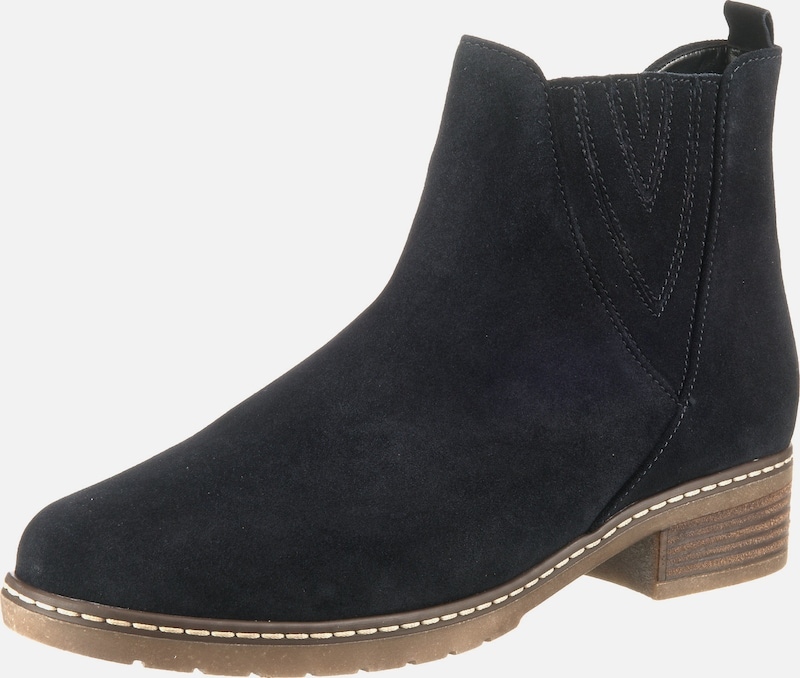 Gabor Damen Schnürstiefeletten aus Leder 733623 (Schwarz)
