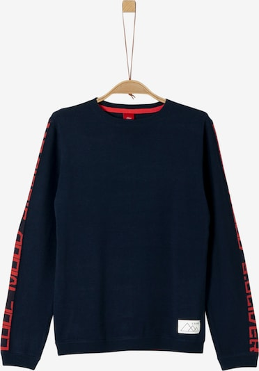 s.Oliver Pullover in navy / rot: Frontalansicht