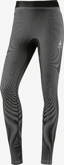 ODLO Sportunterhose in grau / basaltgrau / schwarz / weiß, Produktansicht