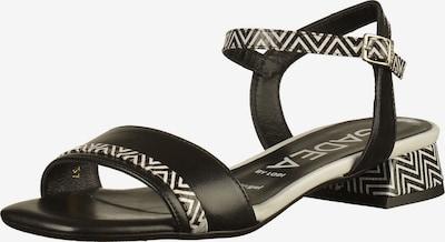 GADEA Sandalen in schwarz / weiß, Produktansicht
