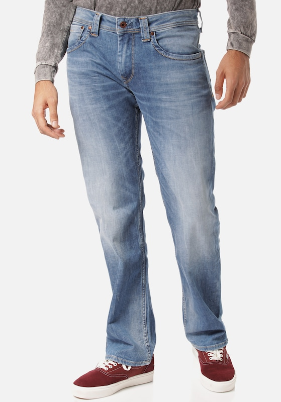 Pepe Jeans Jeans in blue denim, Modelansicht