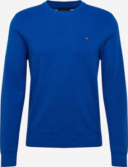 TOMMY HILFIGER Pullover & Strickjacken 'STRUCTURED COTTON CREW NECK' in kobaltblau, Produktansicht
