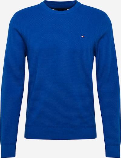 TOMMY HILFIGER Pullover & Strickjacken 'STRUCTURED COTTON CREW NECK' in kobaltblau, Produktansicht