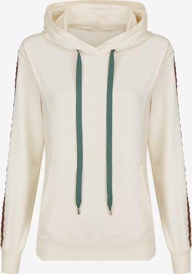 Heimatliebe Sweatshirt in creme / chamois / smaragd / weinrot / schwarz, Produktansicht