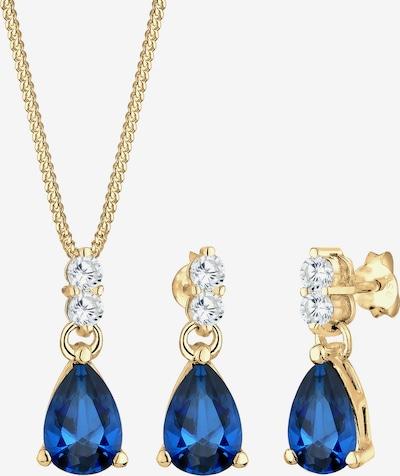 ELLI PREMIUM Sieraden set 'Vintage' in de kleur Donkerblauw / Goud, Productweergave