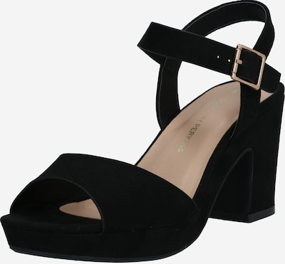Dorothy Perkins Sandalette 'Rhonda Notch Wedge' in schwarz, Produktansicht