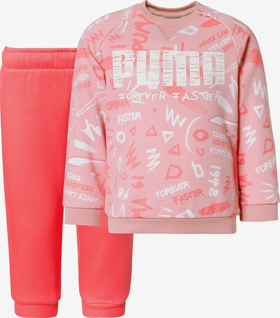 PUMA Jogginganzug 'Minicats Crew AOP' in rosa / pitaya / weiß, Produktansicht