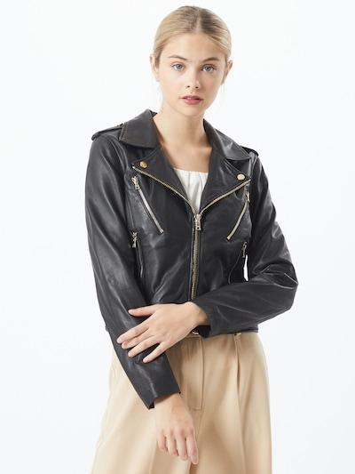 Ibana Veste mi-saison 'Moss' en noir, Vue avec modèle
