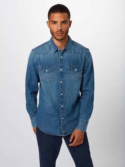 Dalykiniai marškiniai iš WRANGLER , spalva - tamsiai (džinso) mėlyna: Vaizdas iš priekio