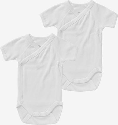 PETIT BATEAU Wickelbodies Cotton, Doppelpack in weiß, Produktansicht
