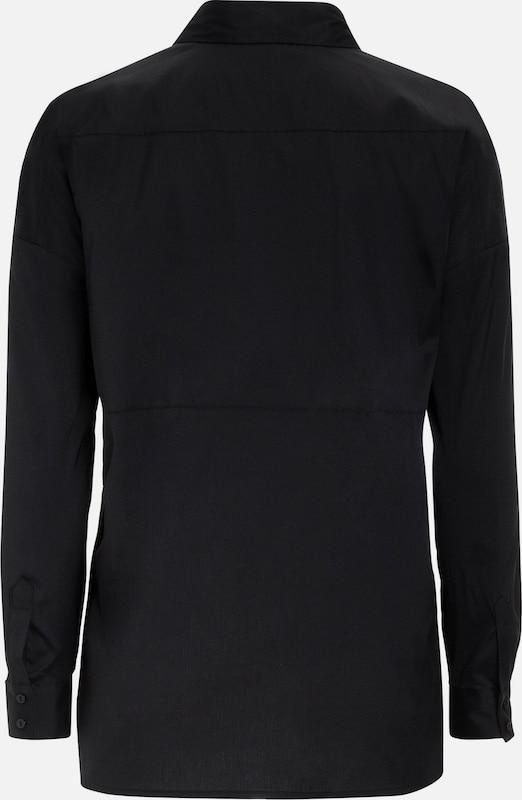 MORE & MORE Oversize Bluse, schwarz