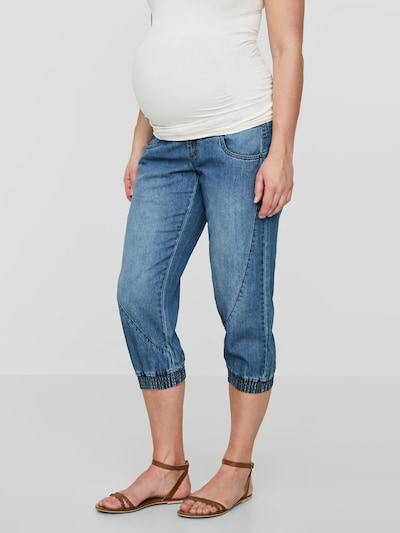 MAMALICIOUS Hose in blue denim: Frontalansicht