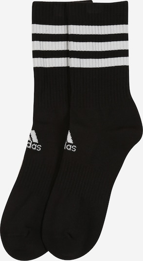 ADIDAS PERFORMANCE Sports socks '3S CSH CRW3P' in black / white, Item view